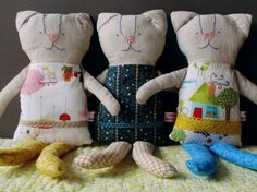 Snuggly softie kitten sweet doudou kitten plush. by bymamma190, €28.00