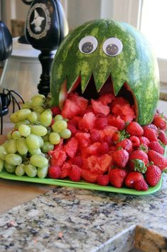 Watermelon monster for Halloween!