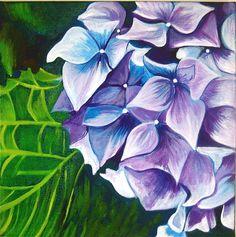 Hydrangea painting by Karlin Meehan