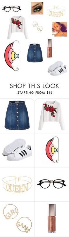 """Untitled #625"" by keneko17therainbowprincess on Polyvore featuring LE3NO, adidas Originals, Valfré, EyeBuyDirect.com and BP."