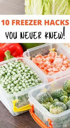 Freezing Vegetables, Freezing Fruit, Frozen Vegetables, Fruits And Veggies, Freezer Hacks, Freezer Cooking, Veggie Freezer Meals, Cooking Tips, Canning Recipes