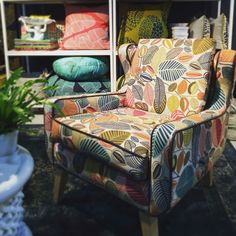 Design Team Fabrics @ 100% Design Home Decor Shops, Home Decor Items, Wingback Chair, Armchair, Living Area, Living Room, Interior Design Studio, Accent Chairs, Upholstery