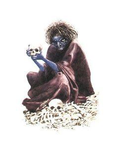 BLACK ANNIS:    Na Inglaterra Black Annis (Annis Preta) é a hag mais famosa. Pelo que dizem, ela habita os morros de Leicestershire, numa gruta que escavou com as próprias unhas de ferro na rocha. Na frente da gruta está um carvalho grande e velho, no qual ela sobe para vigiar o campo em busca de uma presa - que por sinal é uma criança.
