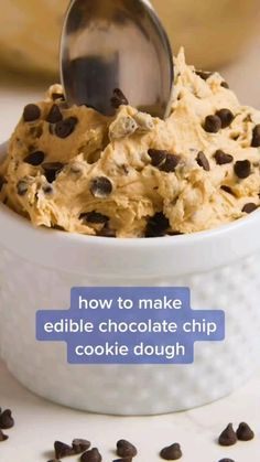 Fun Baking Recipes, Sweet Recipes, Cookie Recipes, Edible Cookie Dough Recipe For One, Homemade Cookie Dough, No Bake Cookie Dough, Healthy Cookie Dough, Fun Desserts, Delicious Desserts