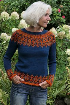 Tinta Ravelry: Tinta pattern by Heidemarie Kaiser. Fair Isle Knitting Patterns, Sweater Knitting Patterns, Knit Patterns, Hand Knitting, Knitting Machine, Vintage Knitting, Stitch Patterns, Baby Sweaters, Winter Sweaters