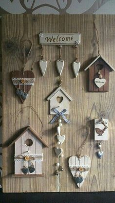 Site of the decoupage fans DCPG. Craft Stick Crafts, Diy And Crafts, Arts And Crafts, Wood Projects, Craft Projects, Projects To Try, Diy Y Manualidades, Deco Nature, Christmas Crafts