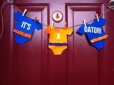 It's A Gator  Felt Pennant Banner New Baby - Love! :)