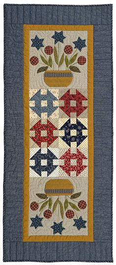Patriotic Bouquets Quilt by Norma Whaley