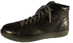 Black leather sneaker for men, by Italian footwear Nero Giardini