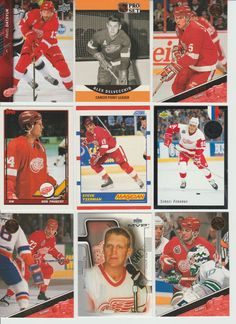 HUGE 500 RED WINGS cards lot 1990 - 2015 Yzerman Datsyuk Fedorov Probert Coffey #DetroitRedWings