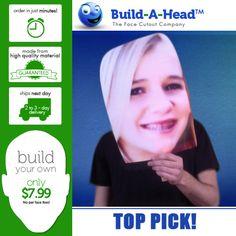 Love the idea of Huge Face cutout! ♥ Face cutout everything at BuildAHead.com