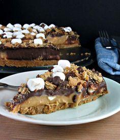 Delicious! Frozen S'mores Peanut Butter Pie :)