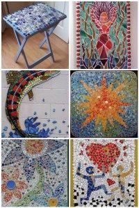 Mosaic tv tray makeover