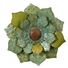 """Cute iron flower by imax - 27"""" across"""