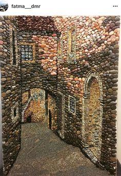 Pebble mosaic,Pebblemosaic ,Pebble art ,Çakıl taşı ,  Mozaik,Taş sokak