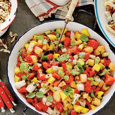 sweet, salty, and spicy watermelon salad