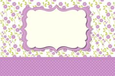 Frame and Lilac Floral Card Invitation: