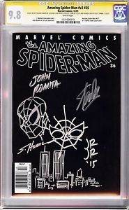 "$600,000.00 / AMAZING SPIDER-MAN #36 CGC 9.8 SS 9/11 HANNA STAN LEE ROMITA SR JR RARE WTC V2. Click ""visit"" for complete specifications."