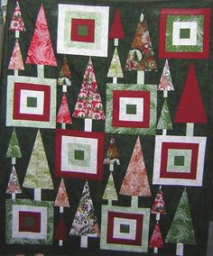 Mandi's Figgy Pudding Christmas Tree Quilt | Christmas quilts ... : figgy pudding quilt pattern - Adamdwight.com