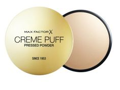 Max Factor creme puff....I like this classic powder, good for setting foundation.