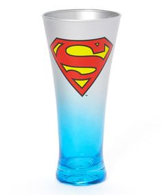 Take a look at this Superman Blue Steel Fluted Glass by Superman on #zulily today!