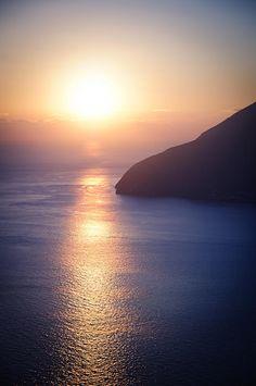 Lipari, Sicily, Italy beautiful sunset