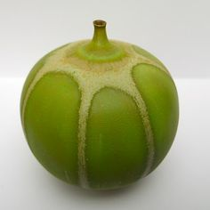 "ROSE CABAT ""FEELIE"" No. 1 - GREEN APPLE AND CREAM GLAZE 