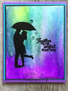 Silhouette Scenes with Stampin Up Pigment Sprinkles - Stamping with KD Stampin Up Catalog, Stamping Up Cards, Card Making Techniques, Scrapbooking, Ink Pads, Stickers, Silhouette Projects, Anniversary Cards, I Card