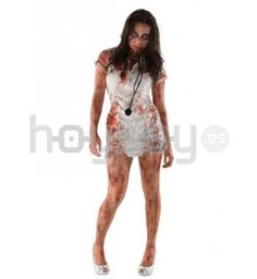 Original #disfraz de la serie #WalkingDead, de enfermera zombie para disfrutar de tu fiesta de #Halloween #Disfraces