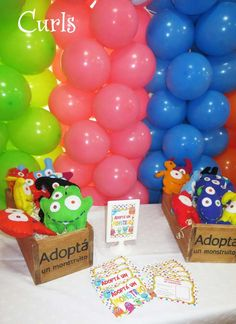 Adopt a monster activity at a monsters birthday party! See more party planning ideas at CatchMyParty.com!