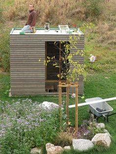 DIY: garden shed - fix & finished house Garden Huts, Terrace Garden, Diy Garden Projects, Diy Garden Decor, Backyard Cottage, Modern Garden Design, Diy Shed, Amazing Gardens, Home And Garden