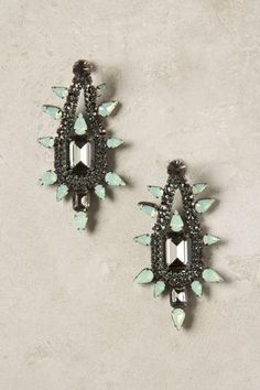Minted Jade Drop Earrings