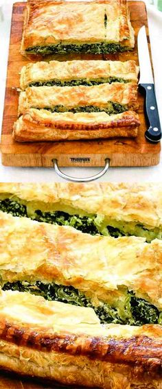 baked, beaten, bread, butter, cheese, dessert, nutmeg, parmesan, pastry, puff, recipes, ricotta, spinach