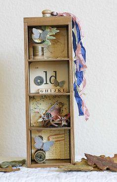altered drawer shadow box -  7gypsies