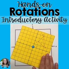 Geometric Rotations Hands-on Introductory Discovery Activity Geometry Activities, Algebra Activities, Math Resources, Math Games, Math Teacher, Math Classroom, Teaching Math, Teaching Geometry, Math Math