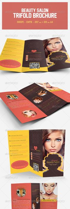 Peliar Beauty  Hair Salon  Fold Brochure  Tri Fold Brochure