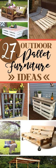 27 stunning outdoor pallet furniture ideas youll love