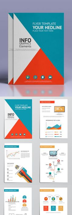 Pro Flat Infographic Brochure Template Ai Eps Infographics
