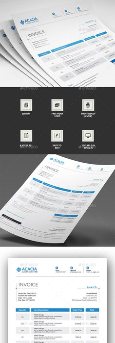 Invoice Templates Free Download Free Blank Commercial Invoice  Template Commercial And Free