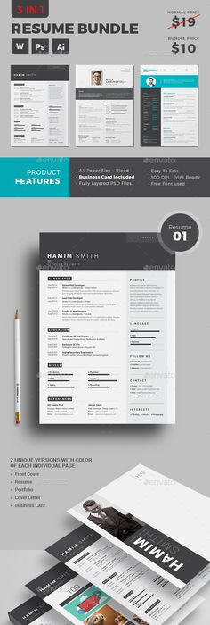 How To Make A Resume In Word Resume  Ai Illustrator Template And Cv Template