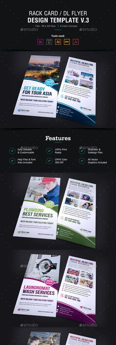 Education Rack Card Dl Flyer Design Brochures Flyer Design