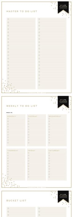 Free Printable Library Planners, Productivity and Planner inserts