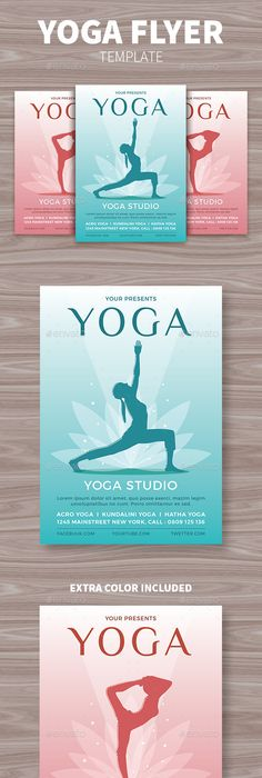 Yoga Class Flyer  Print Fonts And Yoga