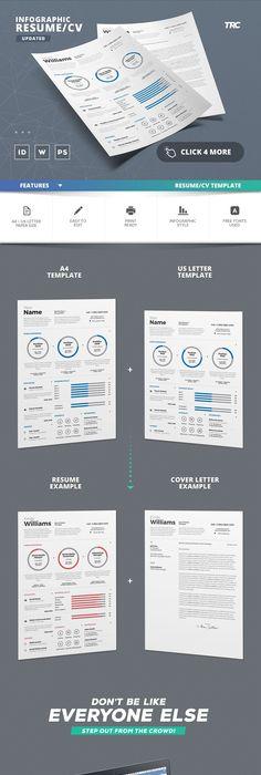 Infographic Resume/Cv Vol 1 by TheResumeCreator on @creativemarket