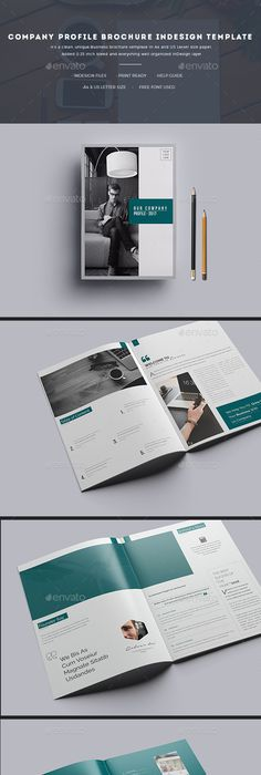 Clean and Professional Company Profile Brochure Template InDesign ...