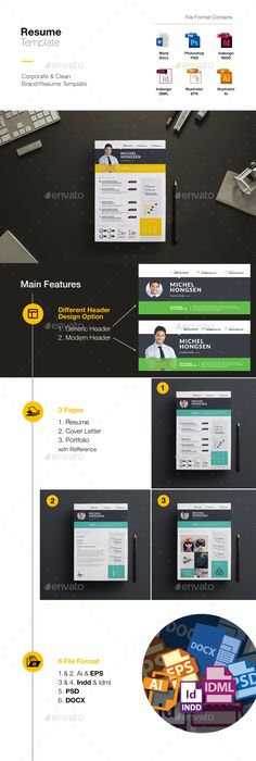 Smart Clean  Professional Resume Professional resume, Template - different resume templates
