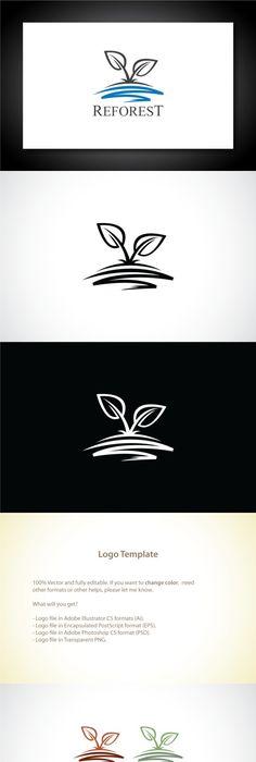 abstract leaf logo design by bureau on creativemarket onkologia