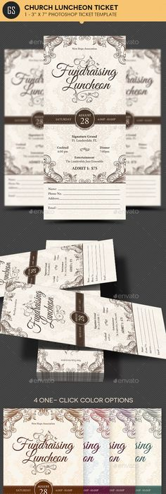 Elegant Anniversary Gala Ticket Template  Miscellaneous Print
