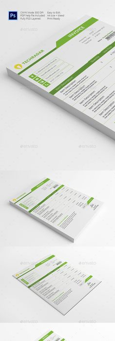 20 Creative Invoice & Proposal Template Designs | Template, Form