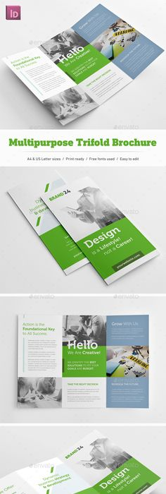 Green Brochure Design Template  Google Search  Green